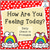 Classroom Management - How Do You Feel Today? Cards - Rainbow