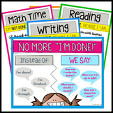 "Classroom Management ""I'm Not Done"" Posters for Fast-Finishers"