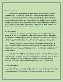 Classroom Management Ideas for Difficult Classrooms