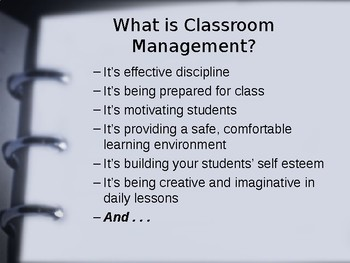 Classroom Management-It's All About the Planning