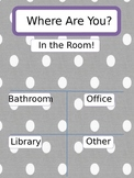 Classroom Management: Keeping track of where your kiddos are!