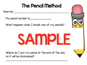 Classroom Management LIFESAVER - Pencil Method