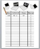 Classroom Management: Laptop sign out sheet