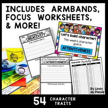 Character Education Activities with Posters, Worksheets, Awards, and More