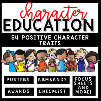 Character Education Activities with Posters, Worksheets, A