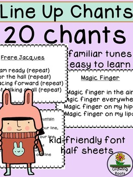 Lining Up Chants