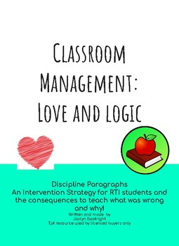 Classroom Management: Love and Logic