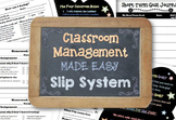 Classroom Management BUNDLE: Homework, Exit, Apology, & Se