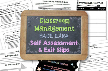 Classroom Management Made Easy: Self Assessment Slips and Exit Slips