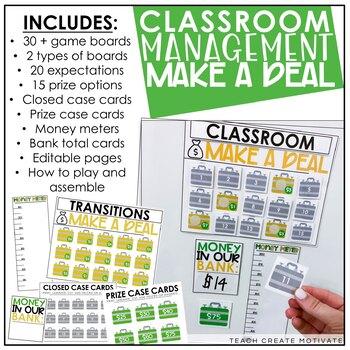 Classroom Management Money Deal | Plan | Game