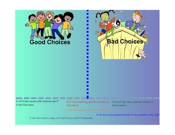 Classroom Management- Making Good Choices Interactive Lesson