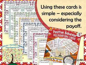Classroom Management Middle & High: Positive Behavior Recognition Cards
