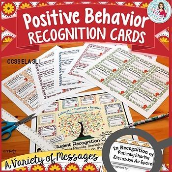 Classroom Management Middle & High: Positive Behavior Reco
