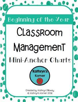Classroom Management Mini-Anchor Charts