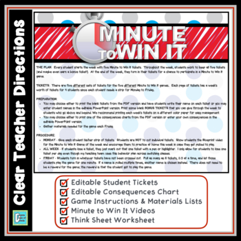 Classroom Management - Minute To Win It