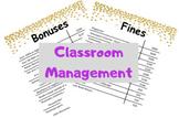Classroom Management (Money Bonuses & Fines Lists)