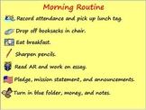Classroom Management - Morning Routine