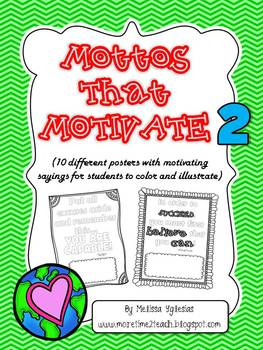 Classroom Management: Motto's that Motivate 2 {FREE}