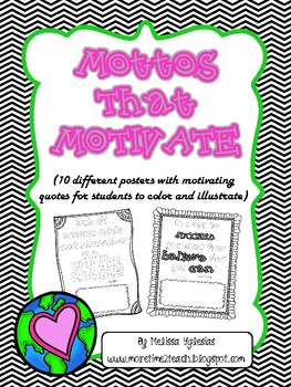 Classroom Management: Motto's that Motivate {FREE}