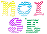 "Classroom Management ""NOISE"" ~ Multi-Color Chevron Ombre' Design"