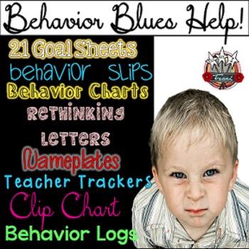 Classroom Management Behavior Tools:  Charts, Forms, Slips