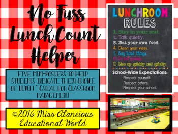 """Classroom Management ~ """"No Fuss"""" Lunch Count"""