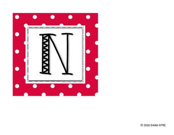 Classroom Management Noise Letters