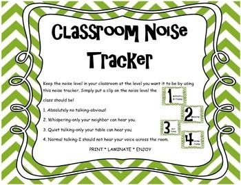 Classroom Management Noise Tracker