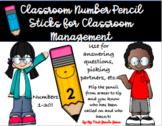 Classroom Management Number Sticks
