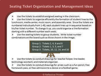 Classroom Management: Organize, Assign Seats, Group with Editable Movie Tickets