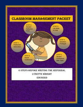 6 Step Classroom Management Packet