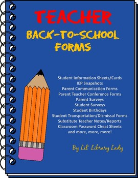 Classroom Management & Parent Communication Forms No Prep Printables