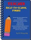Classroom Management & Parent Communication Forms No Prep