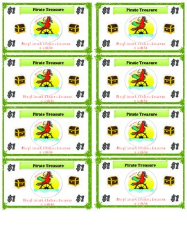 Classroom Management- Pirate Themed Classroom Currency