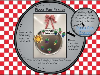 Classroom Management - Pizza Pan Praise {cactus}