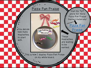 Classroom Management - Pizza Pan Praise {mustache}