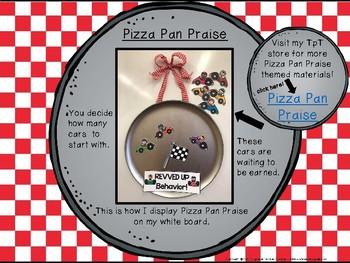 Classroom Management - Pizza Pan Praise {race car}