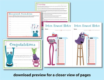 Classroom Management Plan - Monster Style