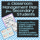 Classroom Management Plan for Secondary Students