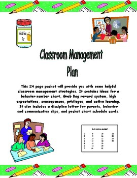 Classroom Management Plan for the Classroom