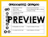 Classroom Management Points Chart: Positive Reinforcement Behavior Modification