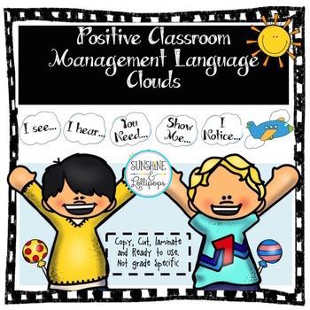Classroom Management: Positive Language Clouds to Build Cl