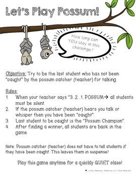Classroom Management: Possum