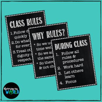 Classroom Management Poster Set {Chalkboard}