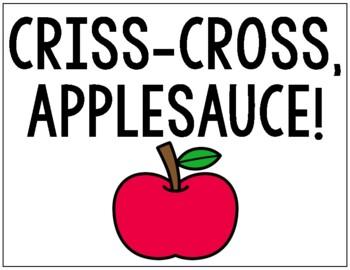 Classroom Management Posters (Criss-Cross Applesauce, Give Me 5, etc.)