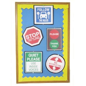 Classroom Management Posters & Coloring Set