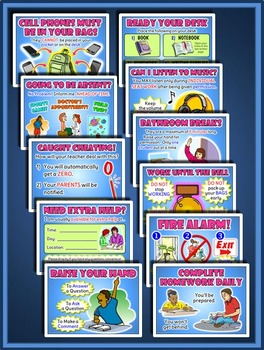 Classroom Management Posters for Middle School and High School