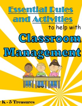 Classroom Management: Activities and Posters