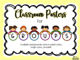 Classroom Management Posters for GROUPS
