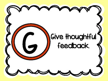 Classroom Management Posters for GROUPS - Plain Circles